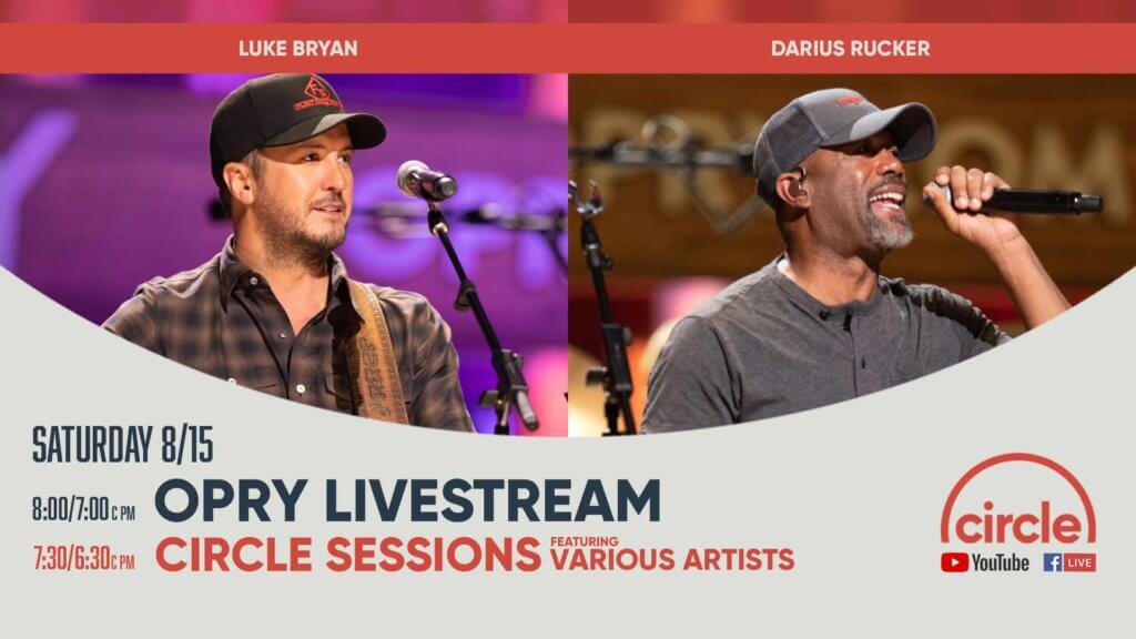 Luke Bryan and Darius Rucker performing at the Opry