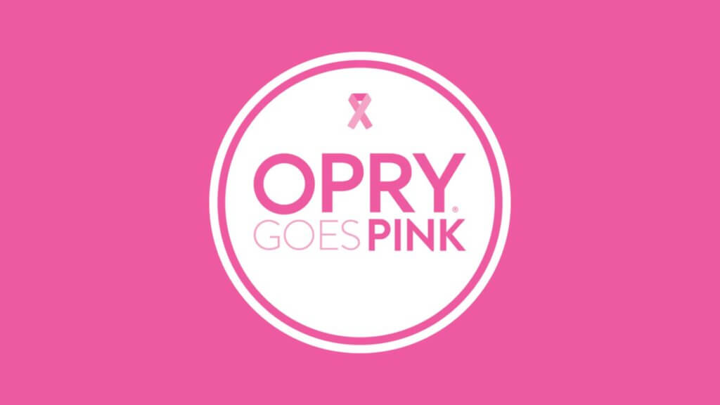 Opry Goes Pink logo with pink background