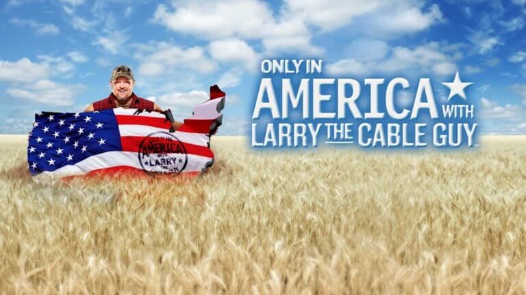 only in America with larry the cable guy logo 2