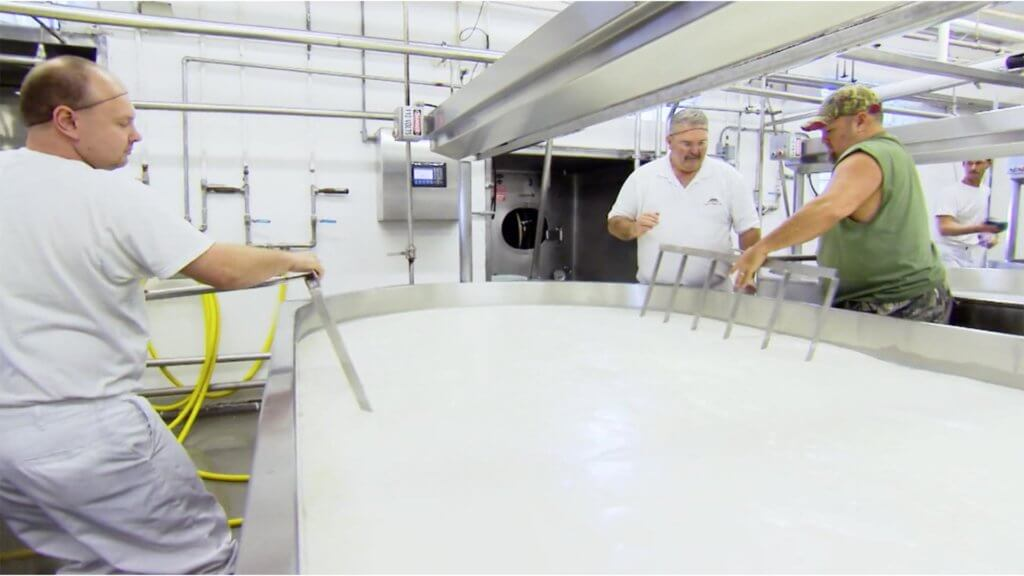 larry making cheese